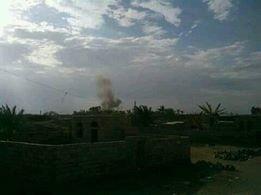 عاجل وبالصور/ التحالف يدمر معدات الانقلابيين شمال المخا الآن